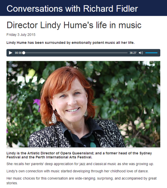 Lindy Hume ABC Radio